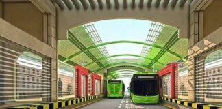 Green Line Buses in Karachi